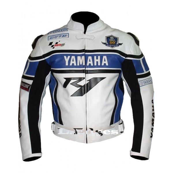 Yamaha blue r1 motorbike motorcycle biker leather jacket for Yamaha r1 motorcycle jackets