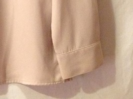 Sag Harbor womens Champagne Colored Long Sleeve Silk Blouse, Size 12 image 5