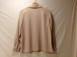 Sag Harbor womens Champagne Colored Long Sleeve Silk Blouse, Size 12 image 2