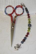Sophia Gingher Long Scissor Fob cross stitch needlework My Big Toe Designs - $18.00