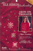 Snowflakes Silk Ribbon Embroidery Iron On Transfer - $3.95