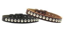 Stud Genuine Leather Dog Collar * Studded Latigo Puppy Love Pet Punk Stu... - €11,25 EUR+