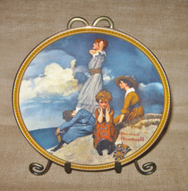 """Norman Rockwell Rediscovered Women Plate Vintage Knowles """"Waiting on the... - $29.99"""