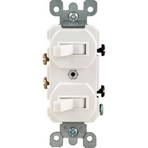 Leviton 15 Amp White Combination Two-Single Pole Switches #5224 - $8.90