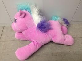 """Hasbro My Little Pony 18"""" TOOLA-ROOLA Pink Plush Pony Teal/Purple Mane T... - $18.69"""