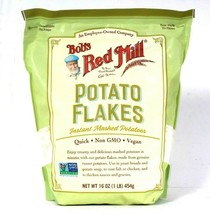 1 Bag Bob's Red Mill 16 Oz Quick Non GMO Potato Flakes Instant Mashed Po... - $15.99