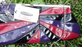 Cool Chinese Laundry Convertible Clutch Multi Color Red Black Purple NWT - $27.09