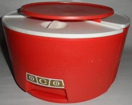 Vintage RUBBERMAID 3 Canisters Lazy Susan Carou... - $28.98