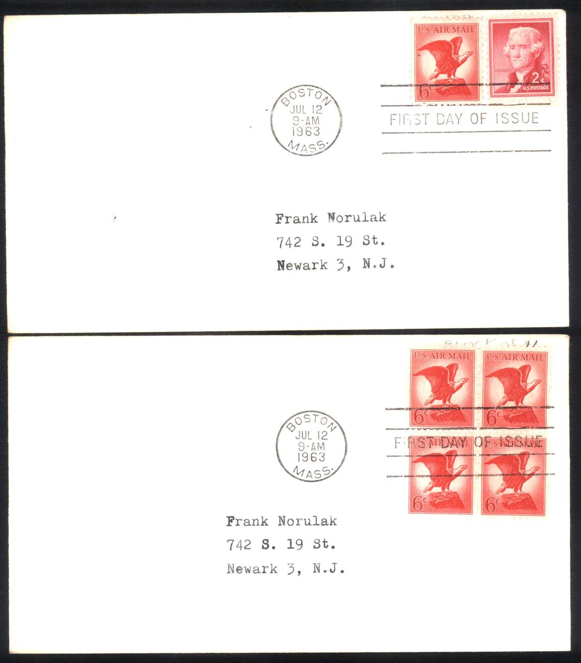 6 cents airmail fdc