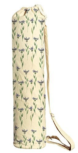 Vietsbay Sport Blue Floral Pattern-11 Printed Canvas Yoga Mat Bags Carriers