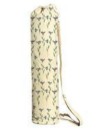 Vietsbay Sport Blue Floral Pattern-11 Printed Canvas Yoga Mat Bags Carriers - $21.99