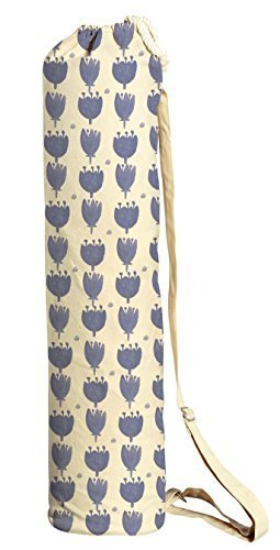 Vietsbay Sport Blue Floral Pattern-2 Printed Canvas Yoga Mat Bags Carriers