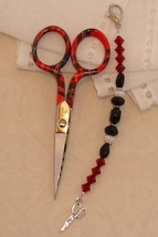 Mia Gingher Long Scissor Fob cross stitch needlework My Big Toe Design - $18.00