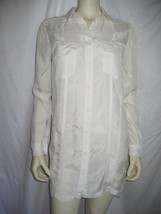 ~T ALEXANDER WANG~OFF WHITE/BEIGE CUPRO  SHIRT  DRESS SZ XS - $36.98