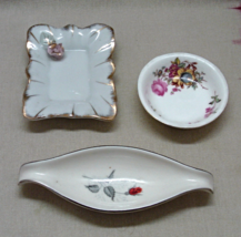 Vintage Trinket Dishes // Ring Dishes // Miniature Floral Porcelain Dishes - $12.00