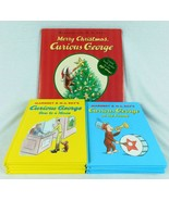 Lot 10 Curious George Books Christmas Hardcover Margaret & H A Rey - $19.99