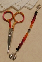 Maria Gingher Long Scissor Fob cross stitch needlework My Big Toe Design - $18.00