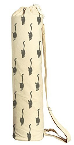 Vietsbay Sport Cat Pattern-8 Printed Canvas Yoga Mat Bags Carriers