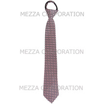 New Boy's Zipper Adjustable Pre-Tied Necktie Checkered Pink Black 10063A - $7.25