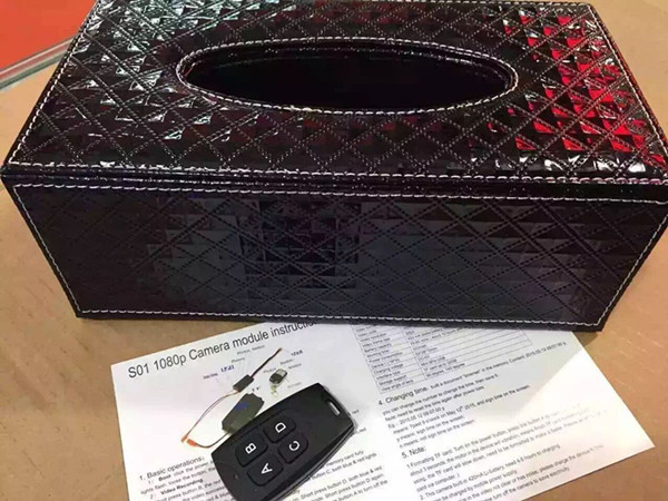 Tissue Box Mini Hidden Spy Camera DVR Wifi Support and Remote Monitoring