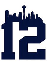 12th man seattle seahawks 2 Decals Logo ~ Windo... - $5.65