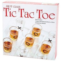 Tic Tac Toe Drinking Set Board Games Shots Glasses Adult Fun Glass Party... - $25.95