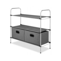 Closet Organizer Collapsible Shelves 2 Drawers Storage Clothes Home Fabr... - $33.95