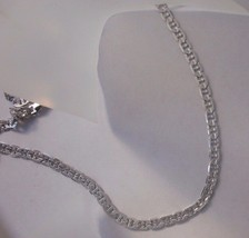 14k White Gold overlay  Marnier Chain 6MM wide Lifetime warranty Guarantee - $25.05+