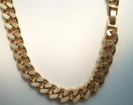 24k Gold overlay 10 MM Etched Curb Chain  Lifetime Guarantee Warranty 13... - $71.28