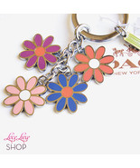 NWT COACH Multi Daisy Flower Floral Key Ring Ch... - $58.00