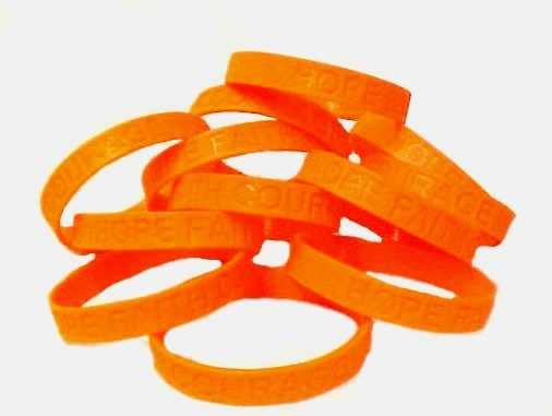 Cultural Diversity Lot of 50 Orange Awareness Bracelets Silicone Wristband New