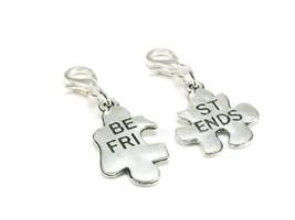 Best Friend Zipper Pull Purse Charm Silver Clip... - $5.95