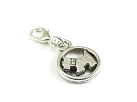 Dog Zipper Pull Purse Charm Silver Clip On Charms - $2.95