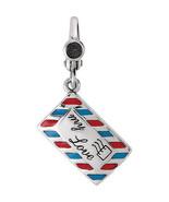 Love Letter Envelope Charm In Sterling Silver - $54.45