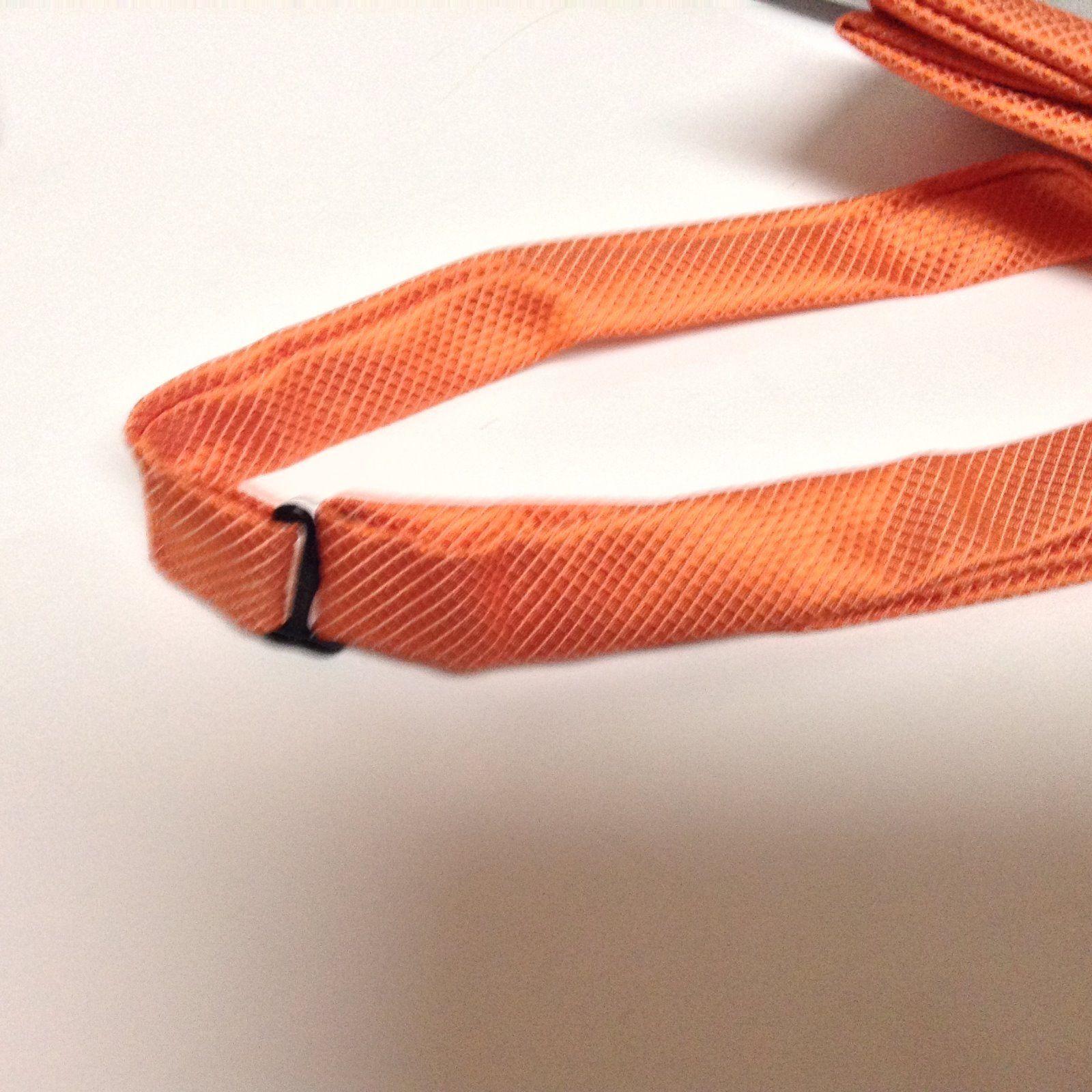 Adult Dressy Bow Tie Colorful Burnt Orange NWT Easy Adjustable