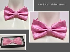 Adult Dressy Bow Tie Colorful Pink NWT Easy Adjustable  - $7.99