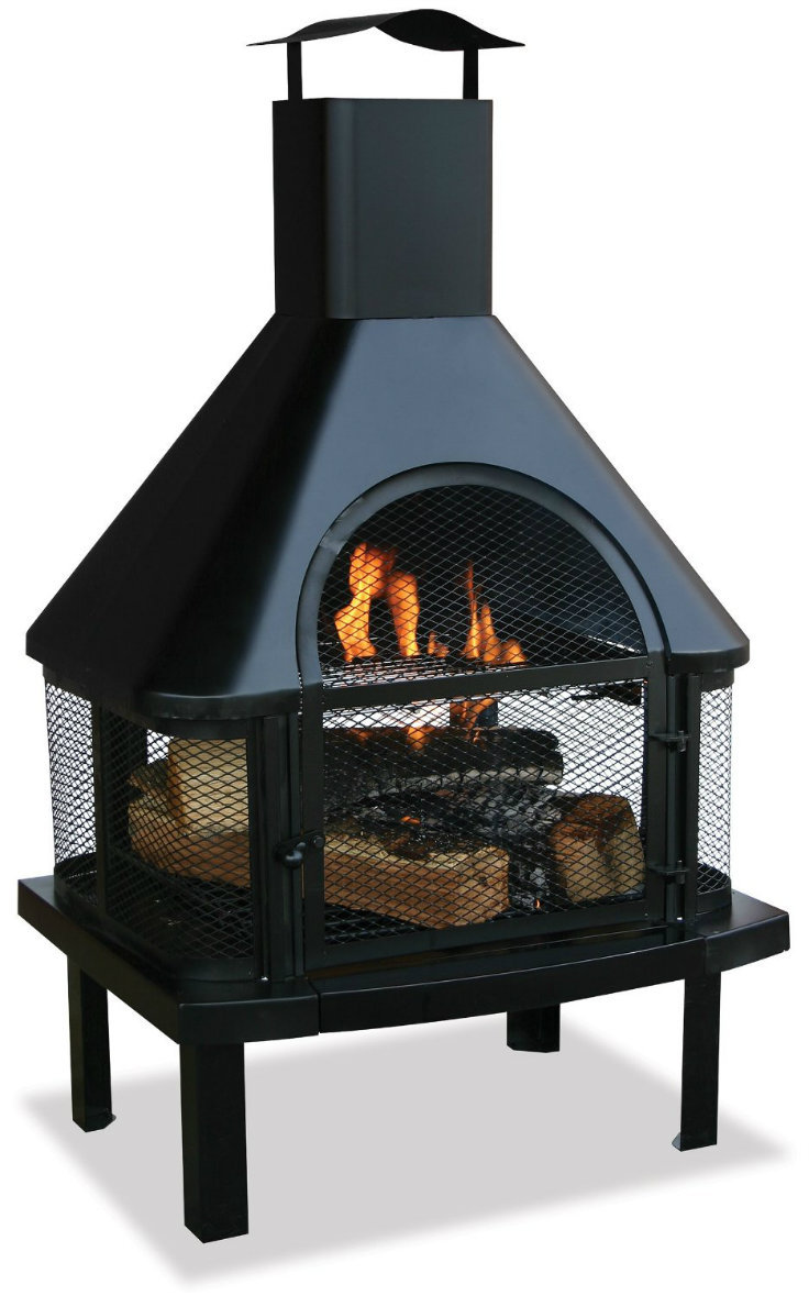 Outdoor Fireplace Chimney Patio Deck Wood Burning Fire Pit Backyard Firehouse Fire Pits