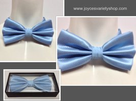 Adult Dressy Bow Tie Baby Blue NWT Easy Adjustable  - $7.99