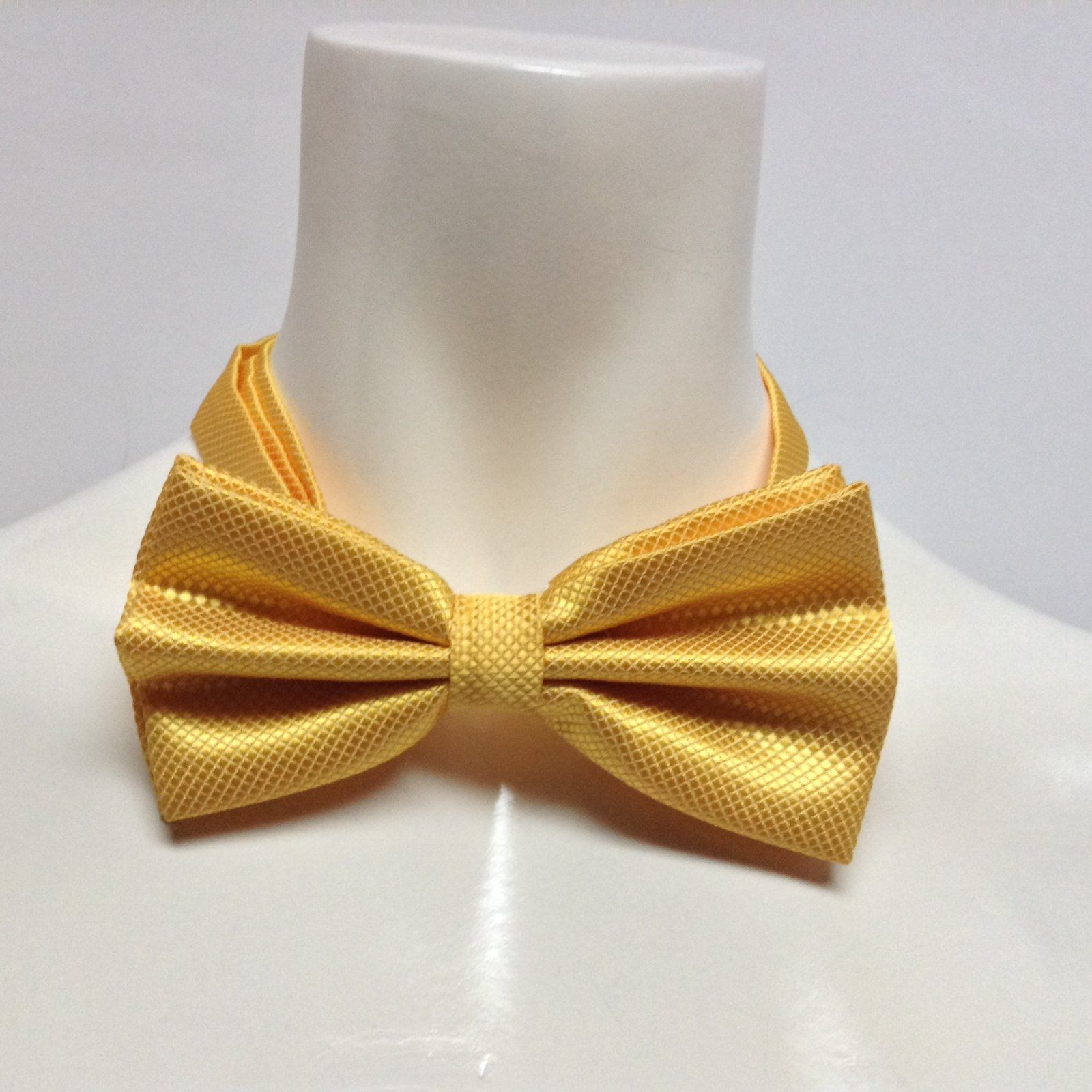 Adult Dressy Bow Tie Yellow NWT Easy Adjustable