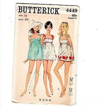 1960s Beachdress Swim Mini Dress Pattern Butterick #4449 Factory Folded ... - $12.38