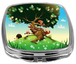 Rikki Knight Cartoon Landscape Compact Mirror Plants and Animals Design NEW - $12.00