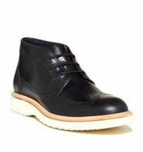 Cole Haan mens leather Martin Wingtip chukka black boots, Size 12 C11650 - $49.49