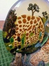 Unique Resting Giraffe Statue & Mother/ Baby Plate on Rockery Base made in China image 2