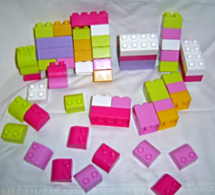 Pinks, Purples,Green Mega Bloks 59 Piece Lot - $9.99