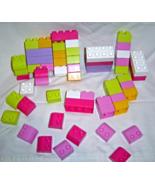 Pinks, Purples,Green Mega Bloks 59 Piece Lot - $9.99