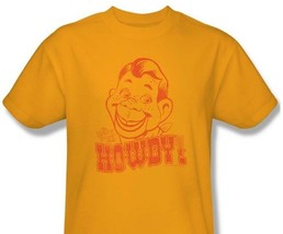 Howdy Doody T-shirt retro vintage TV show 100% cotton graphic printed gold tee image 1