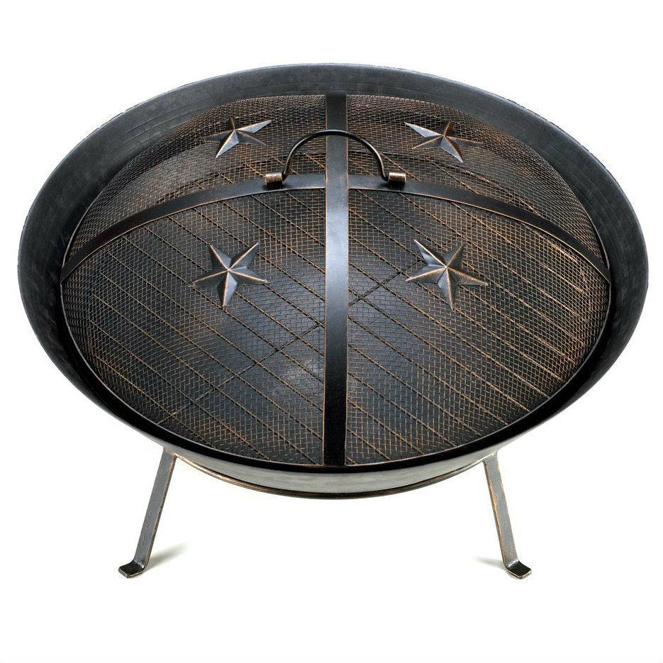 Cast Iron Fire Pit Outdoor Patio Deck Fireplace Backyard ...