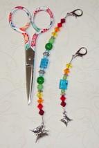 Julia Gingher 2013 Long Scissor Fob cross stitch needlework My Big Toe Designs - $18.00