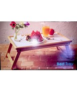 """Bed Tray 9"""" x 21"""" x 13"""" Oak Trimmed with White Melamine Tray - $9.99"""
