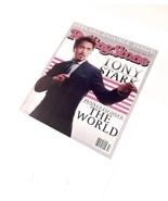 Iron Man Rolling Stone Tony Stark Cover Seen In Movie Replica Robert Dow... - $29.99